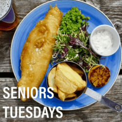 Tuesdays is Senior's Day at the Parade with a selection of small serve menu items all for $15 or less.