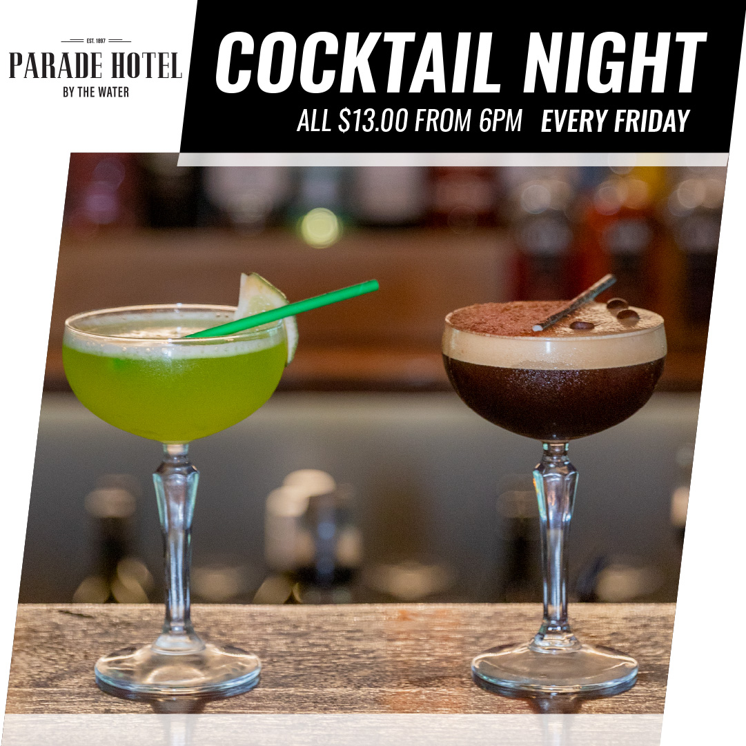Enjoy $10 cocktails every Thursday night from 5 - 9 pm.